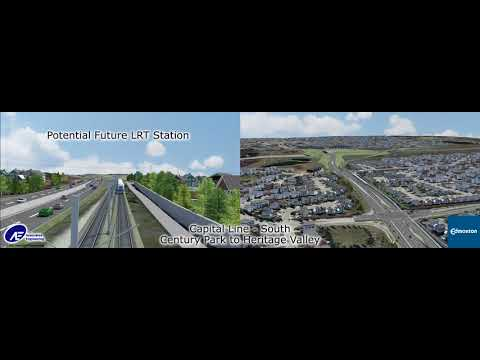 Capital Line South LRT Extension Alignment Video Mp3