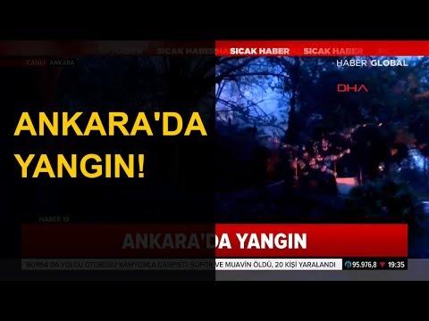 Ankara'da Gazi Hastanesi'nde Yangın!