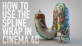HOW TO USE THE SPLINE WRAP IN CINEMA 4D | QUICK TIP