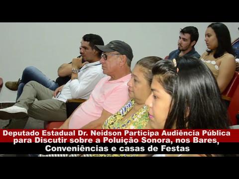 DEPUTADO DR. NEIDSON PARTICIPA DE AUDIÊNCIA PÚBLICA SOBRE A LEI DOS DECIBÉIS