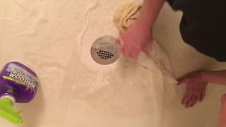 Part 2. Cleaning Textured Fiberglass Shower Floor W/Kaboom!!