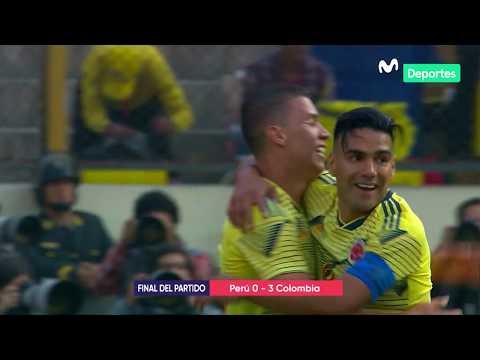 Peru vs. Colombia 0-3| RESUMEN y GOLES del partido amistoso internacional