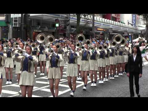 横須賀パレード (6) [鎌倉女子大学 中等部・高等部 マーチングバンド] 【2015.10.11】 Yokosuka marching band Festival