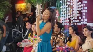 Maris Racal singing the tagalog theme song of Ikaw Lang Ang Iibigin