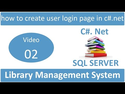 how to create user login page in csharp net