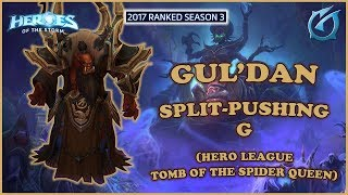 Grubby | Heroes of the Storm - Gul'dan - Split Pushing G - HL 2017 S3 - Tomb of the Spider Queen
