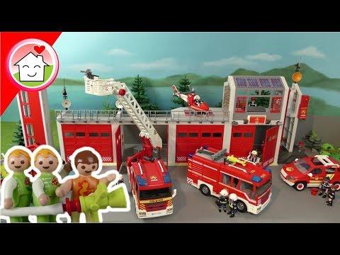Playmobil Feuerwehr Film deutsch - Die Kita besucht die Feuerwehr - Familie Hauser