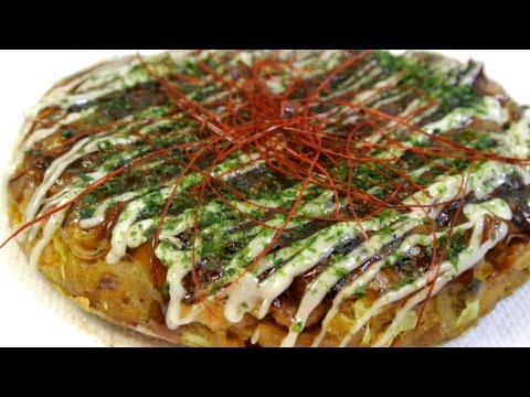 Curry OKONOMIYAKI recipe (Japanese pancake)
