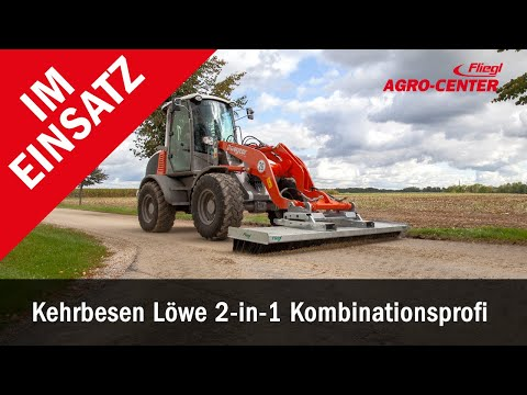 Kehrbesen Radlader Stapler Traktor Kehrmaschine im Einsatz | Fliegl Agro Center
