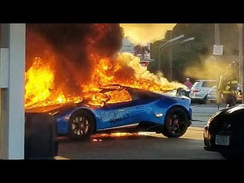 Lamborghini Huracan Performante Burns To The Ground!! Simple Mistake, Shocking Results! 1 HOT LAMBO!
