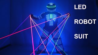 Colorful Led Luminous Costume Clothes Dancing LED Growing Lighting Robot Suits Clothing