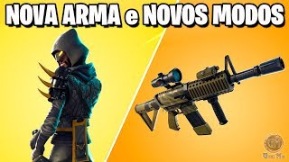 Fortnite NOVA ARMA + NOVOS MODOS DE JOGO | Patch 4.4
