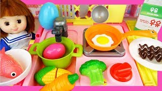 Baby doli food cart and cooking toys play