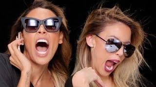 No Mirror Makeup Challenge with Desi Perkins! | LustreLux