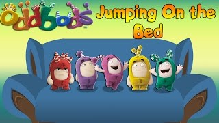 ODDBODS 5 little monkeys jumping on the bed / Nursery Rhymes song For Kids