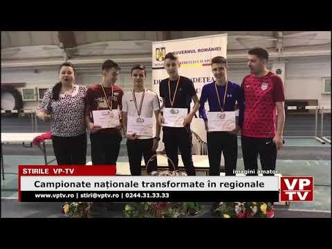 Campionate naționale transformate în regionale