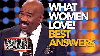 WHAT WOMEN LOVE! Steve Harvey Asks The Questions On Family Feud USA!