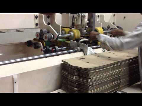 SEMI AUTOMATIC BOX STITCHING MACHINE