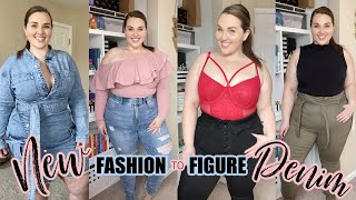 HUGE Fashion To Figure PLUS DENIM TRY ON HAUL!  | Sarah Rae Vargas