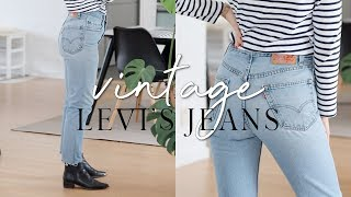 Buying affordable vintage Levi's jeans + reworking them: step-by-step | Fix your wardrobe series