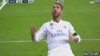 Sergio Ramos BICYCLE KICK GOAL - Real Madrid vs Apoel Nicosia 3-0 | 13-09-2017 HD