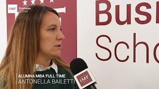Opinión Alumna Master MBA Presencial de IMF: Antonella Bailetti