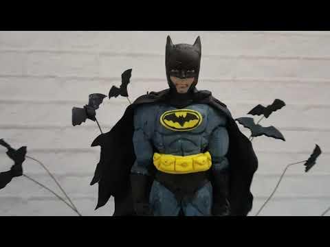 Как сделать Бэтмена из сахарной мастики