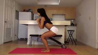 Смотреть онлайн Эффективные упражнения для похудения бедер и ягодиц