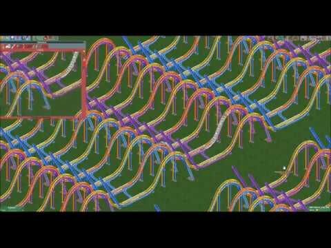 A calculator made from rollercoasters in Rollercoaster Tycoon 2