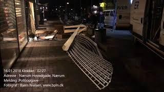 16.01.2018 Rambuktyveri mod en jagtbutik, Nærum