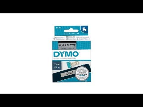 Etichete autocolante, DYMO LabelManager D1, 12mm x 3m, negru/argintiu, 2084401 2056085