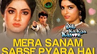 Mera Sanam Sabse Pyara Hai - Video Song | Dil Ka Kya Kasoor | Divya Bharti & Prithvi