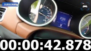 Maserati Ghibli Diesel 3.0 V6 Turbo 275 HP Acceleration Top Speed 0-248 km/h & Sound on Autobahn