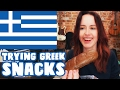 Download Video BRITISH GIRL TRIES GREEK SNACKS!