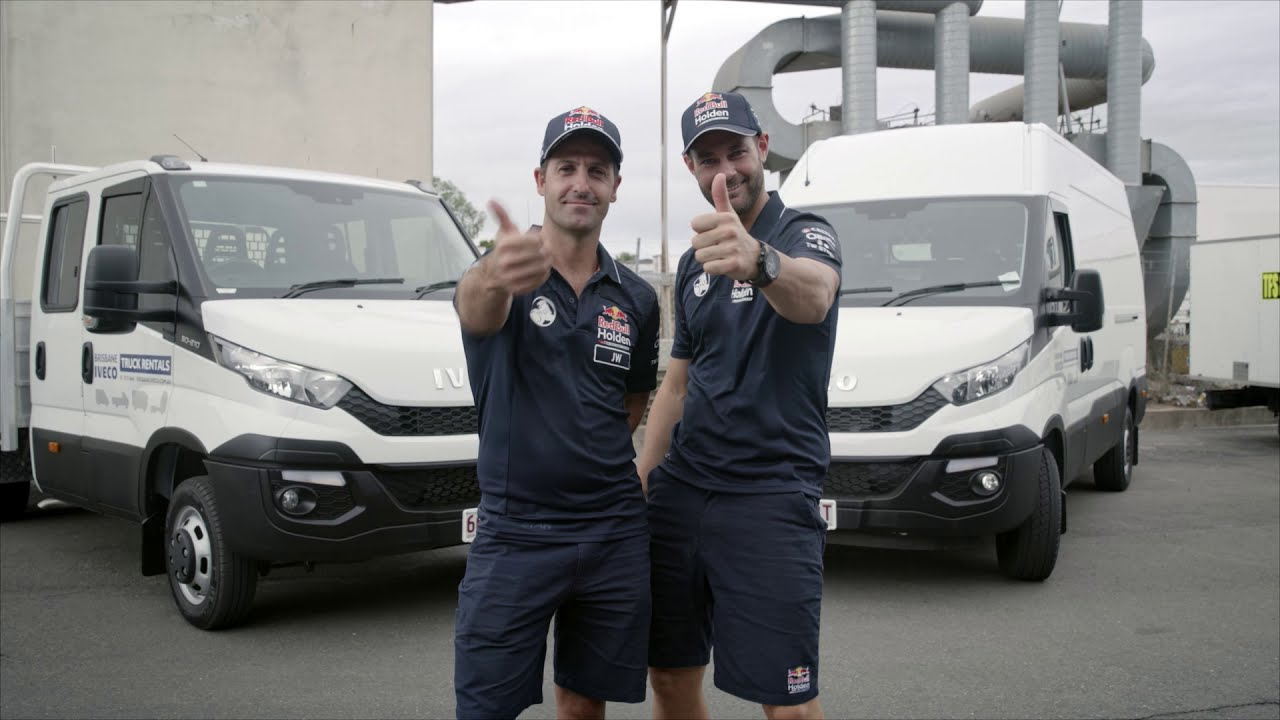 Jamie and Shane with the IVECO Daily Range