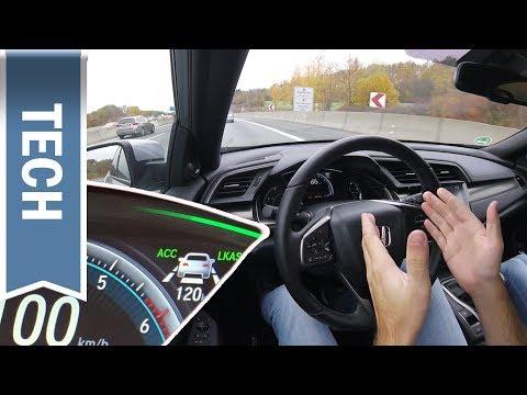 Honda Civic: Assistenzsysteme des Sensing Pakets im Test: ACC, LKAS & teilautonomes Fahren im Detail