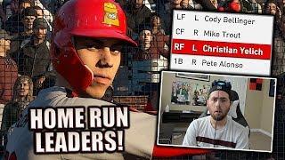 CURRENT HOME RUN LEADERS TEAM BUILD! MLB THE SHOW 19 DIAMOND DYNASTY