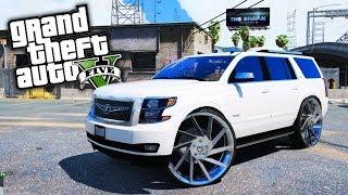 Chevy Tahoe On Forgiatos! GTA 5 Real Life Mod #3 (Real Hood Life 4)