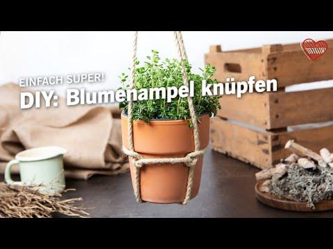 DIY: Blumenampel knüpfen | Ein einfaches DIY für Gartenfans