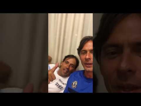 Pippo e Simone Inzaghi, cena insieme coi rispettivi staff!