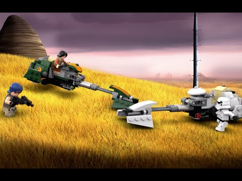 Vidéo LEGO Star Wars 75090 : Le Speeder Bike d'Ezra