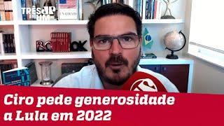 Rodrigo Constantino: Quem nasceu para ser capacho do Lula nunca vai ter luz própria