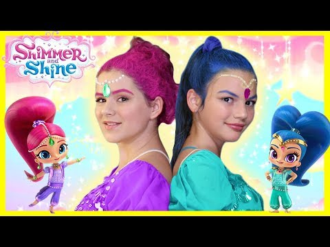Shimmer and Shine Makeup Tutorial! Costumes, Makeup, & Hair!