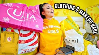 CLOTHING, MAKEUP & BACKPACK HAUL for back to school online!💛🌻