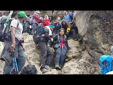 Kilimanjaro trekking via machame route