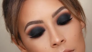 BLACK SMOKEY EYE - BEST TIPS FOR BLENDING | DESI PERKINS