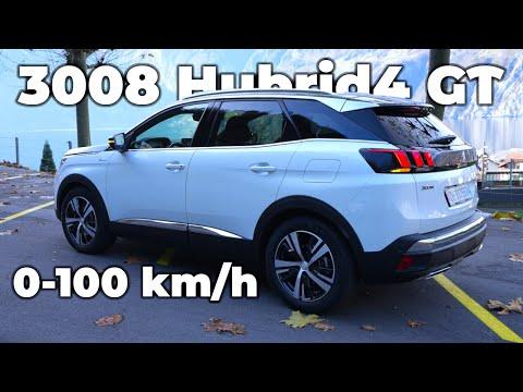 2020 Peugeot 3008 Hybrid4 GT | 300HP | Acceleration Test 0-100km/h