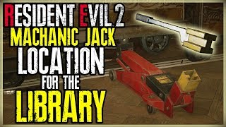 MACHANIC JACK LOCATION FOR THE LIBRARY BOOKS SHELF - RESIDENT EVIL 2 REMAKE