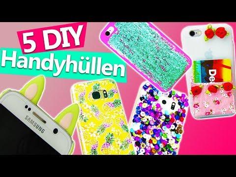 5 EASY DIY HANDYHÜLLEN selber machen | Einfache Methoden für Phone Cases | Geschenkideen für die BFF