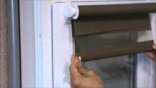 Как установить рулонные шторы день ночь на пластиковые окна